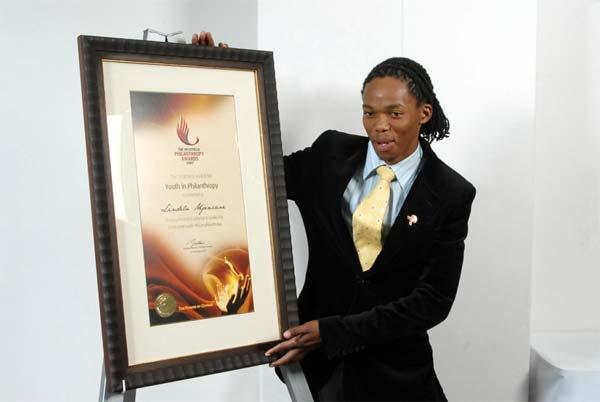 Lindela Mjenxane's Inyathelo Award